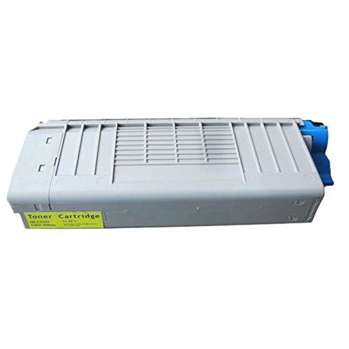 Yellow Premium Toner Cartridge for OKI C710's C711's (OEM #: 43866101 44318601)