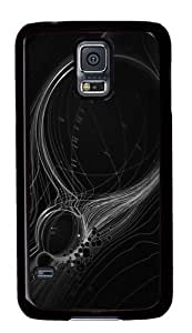 Abstract Lines Custom Samsung Galaxy S5/Samsung S5 Case Cover Polycarbonate Black