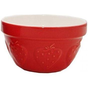 Mason Cash Zest Steam Bowl (British Term - Pudding Basin), Strawberry, 0.95-Quart