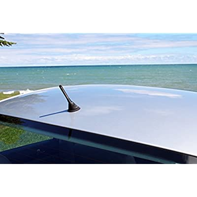 AntennaMastsRus - Made in USA - 4 Inch Black Aluminum Antenna is Compatible with Dodge Promaster - Dodge Promaster City (2014-2020): Automotive
