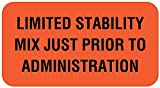United Ad Label IV Communication Label, 1-5/8'' x 7/8'', Fluorescent Red - 560 Labels Per Roll