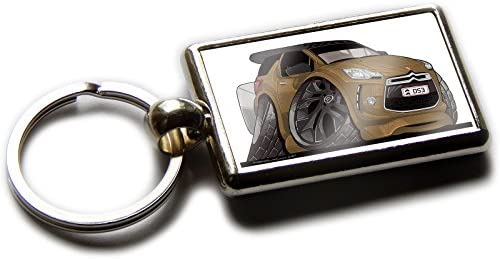 Amazon.com : Koolart Cartoon Car Citroen DS3 Chrome Keyring ...