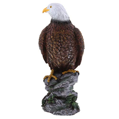 B Blesiya Resin Eagle Statue Figurine - Artistic Decorations for Indoor Outdoor Garden Yard - Brown