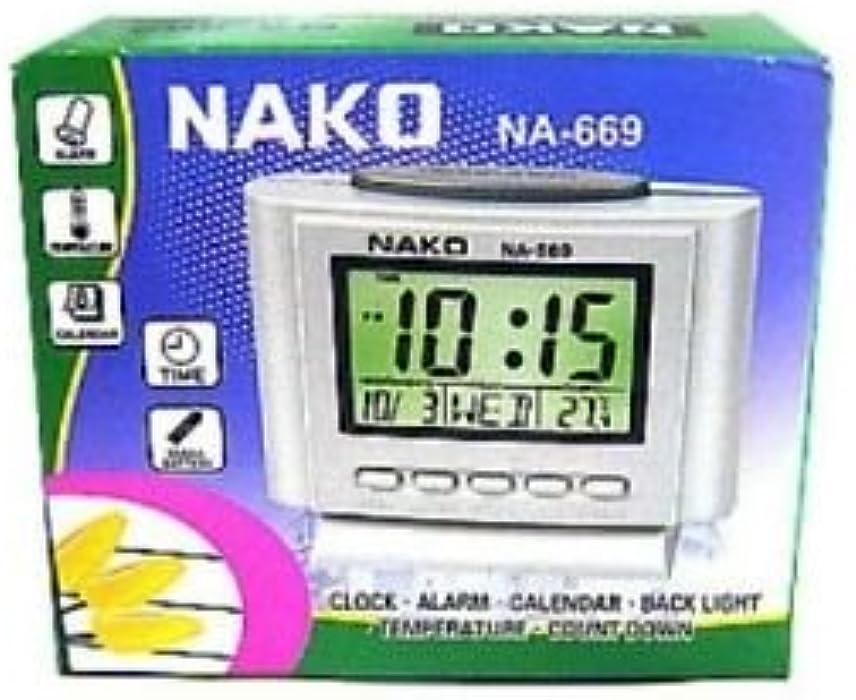 Despertador Reloj con fecha y temperatura digital 9 x 7 cm