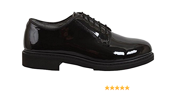 Black High Gloss Shiny Oxfords Uniform