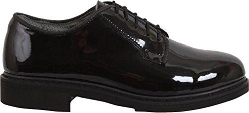 Shoe Womens Gloss Red (Black High Gloss Shiny Oxfords Uniform Shoes dress military uniform duty)