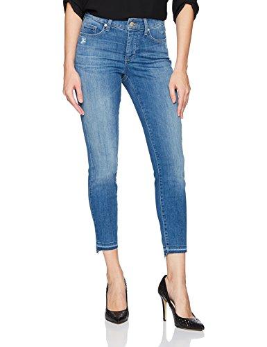 NYDJ Women's Ami Skinny Ankle Step Released Hem In Platinum Series Denim, Burton, 0 Womens Platinum Series
