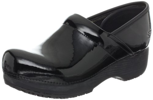 Skechers for Work Women's Clog, Black Patent, 7.5 M US