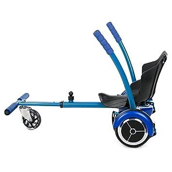 """Tango - HoverKart Silla Accesorio para Patinete Eléctrico Compatible con Hoverboard 6.5"""" y 10"""", Color Azul"""