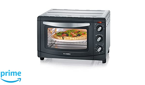 Severin TO 2061 - Horno tostador con convección, color negro y plata (Reacondicionado Certificado): Amazon.es: Hogar
