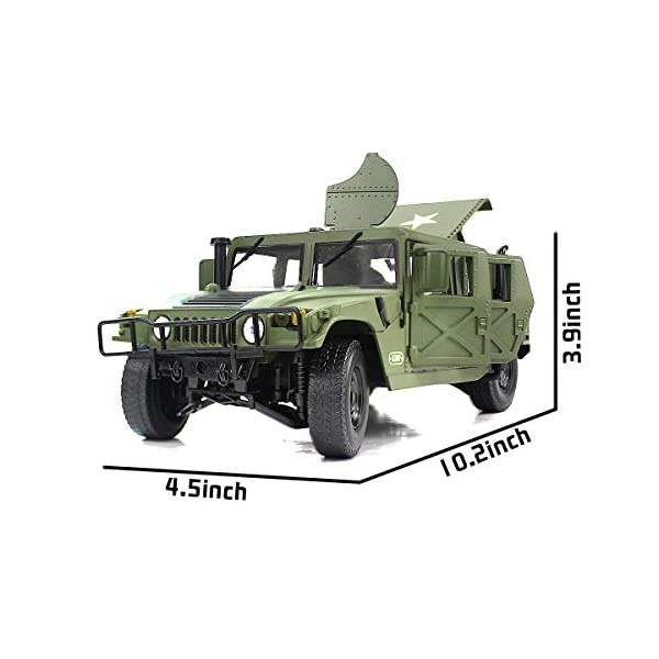 Fisca 1/18 Scale Model Car Metal Diecast Military Armored Vehicle Battlefield Truck 2