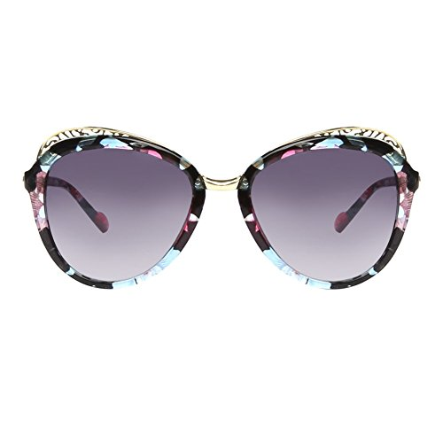 GLASSESLIT Vintage 80's Floral Pattern Print Retro Womens Fashion Wayfarer - On Print Sunglasses