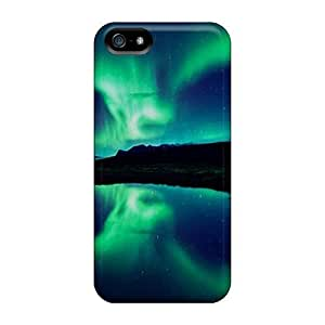Iphone 5/5s-(aurora Lights) Personal mobile phone Pretty Iphone Cases Covers covers yueya's case
