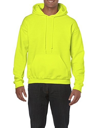 Hooded Capuche Homme Green Gildan Heavyweight Jaunesafety shirt 188 SweatshirtSweat À lJKFcT1