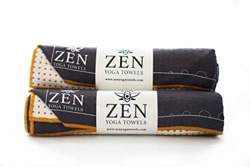 Yoga Towel 100% Microfiber- Non Slip Silicone Dots- Hot Yoga- Bikram Yoga- ()