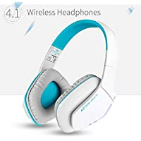 KOTION EACH B3506 V4.1 Bluetooth Headphones for PS4, Wireless Headset with Microphone, Noise Isolation Foldable Gaming Headset with mic, for PlayStation 4 PC Mac Smartphones Computers Laptops (White)