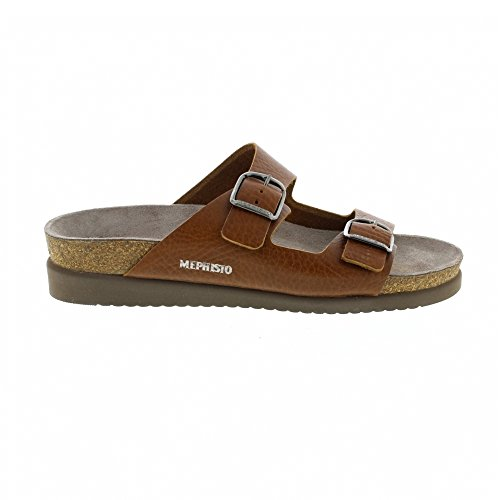 Mephisto Womens Harmony Leather Sandals marrón