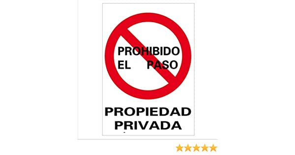 Normaluz RD40025 - Señal Propiedad Privada PVC Glasspack 0,7 mm 21x30 cm
