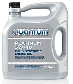 Quantum Platinum 5 W-40 Aceite de motor totalmente sintético 5 L - Acea C3, API, PD aceite: Amazon.es: Coche y moto