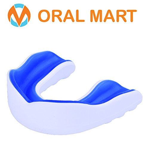 Oral Mart Sports Mouth Guard for Kids/Adults (White/Blue & White/Green & White/Pink) – Cushion Sports Mouthguard for Lacrosse, Basketball, Rugby, Boxing, Flag Football, Soccer, Karate(Comes with Case) – DiZiSports Store