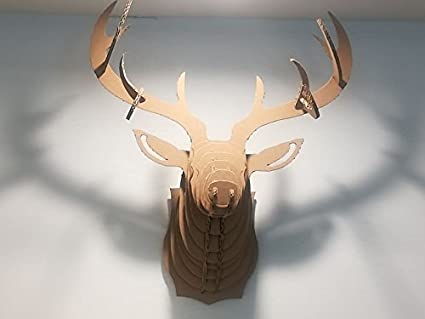 Amazon.c: Paper Maker DIY Cardboard Deer Head Wall Mount Wall ...