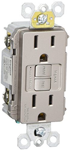 Legrand-Pass & Seymour 1597TRNICC4 Self-Test GFCI Receptacle Outlet with  Wall Plate,