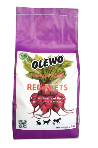 Olewo Red Beets Allergy Dog Food Supplement, Controls Dog Skin Allergies And Itching With Natural Detoxification And Anti-Inflammatory Support, Adds Natural Source Vitamins To Any Dog Food To Promote Overall Health, 1-Ingredient, Non-Gmo Product, Made In Germany, 2.2 Pounds