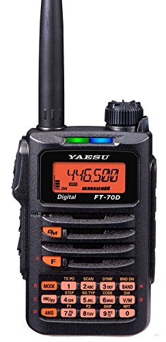 (FT-70DR FT-70 Original Yaesu 144/430 MHz Digital/Analog Handheld Transceiver - C4FM / FDMA - 3 Year Manufacturer Warranty)