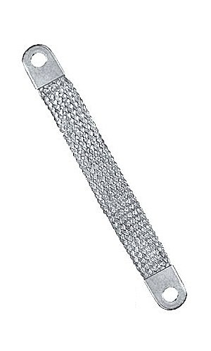 (Quick Cable 7404-001 Braided Ground Strap, Lug to Lug, 18