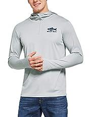 BALEAF - Camiseta de Manga Larga con protección Solar UPF 50+ para Hombre