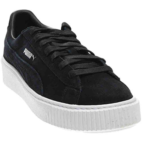 c1105281133172 PUMA Women s Suede Platform core Sneaker Black White