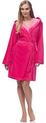 Merry Style Albornoz para Mujer MSLL1004 Rosa/Rosa Claro