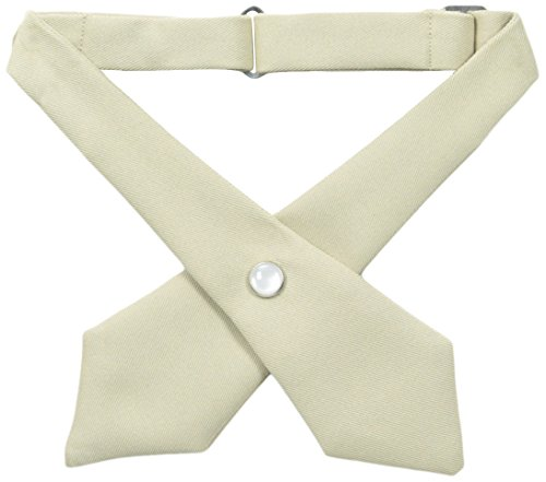 French Toast Girls' Husky Adjustable Cross Tie Solid, Khaki, One (Crossover Tie)