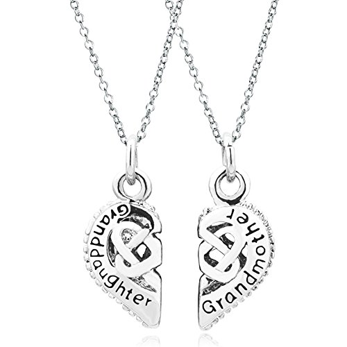 CharmsStory Grandmother Granddaughter Pendant Necklace