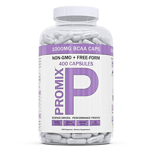BCAA Capsule Amino Acid Energy Branched Chain I Vegan Keto Paleo Instantized Essential Fermented I Non GMO Gluten Soy Free Form Fasting I 100 Pure Performance Promix, 1000mg, 400 Supplement, Women