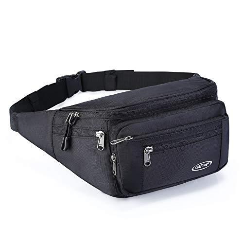 G4Free Fanny Packs Hip Waist Bag Belt Bag for Men Women Travel Sport Workout Outdoors Casual