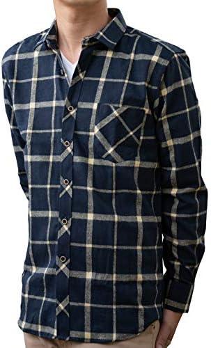 [ミックスリミテッド] ネルシャツ チェックシャツ メンズ 長袖シャツ シャツ チェック柄 サーフ系