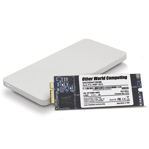 OWC 480GB Aura Pro 6G SSD and Envoy Pro Upgrade Kit for 2012-2013 MacBook Pro with Retina display. by OWC