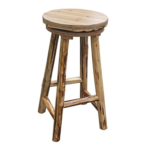 Rush Creek Creations Rustic Reloading Bar Stool - Handcrafted Rustic Solid Pine - Tested -