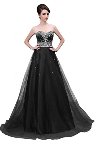 vestito Black Sweetheart Sunvary lungo da Maxi sera Exquisite abito sera zgwEqZE