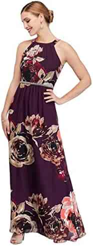 Illusion Plunge Leaf-Print Mikado Ball Mother of Bride//Groom Gown Style 12339