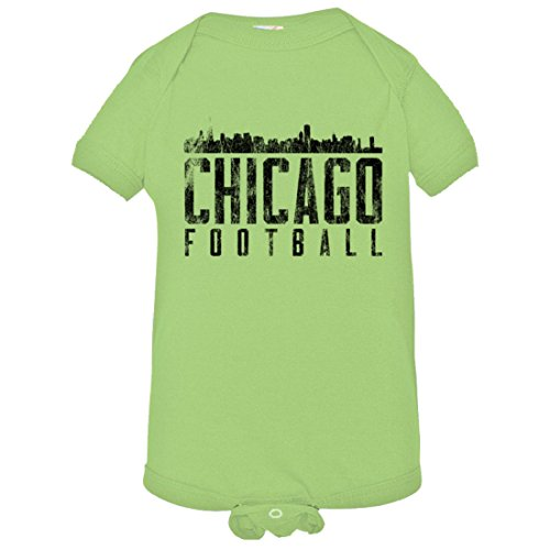 23 Chicago Bears Jersey - PleaseMeTees Baby Chicago Football Skyline Sports Distressed HQ Jumper-Lim-24M