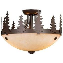 "Vaxcel LK55512BBZ-C Yosemite 11-1/2"" Light Kit, Burnished Bronze, Brown"