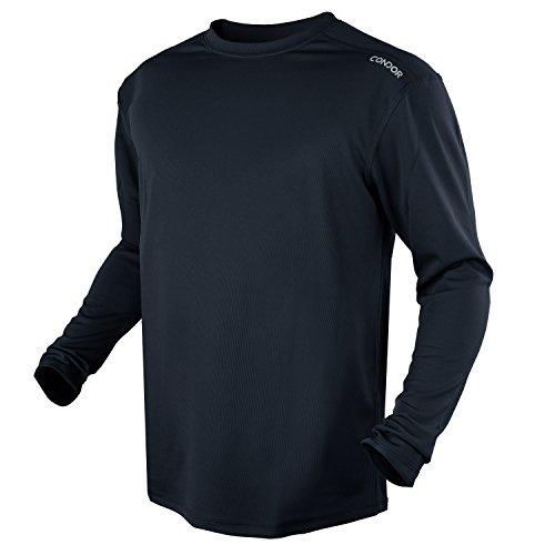 Condor Outdoor Maxfort Long Sleeve Shirt Performance Training Top (Medium, Navy Blue) (Restaurant Outdoor Heaters)