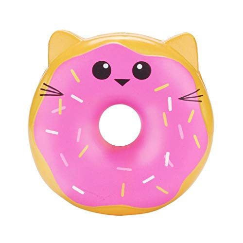 Livoty Mini Squishy Toys, Clearnce! Kawaii Squishies Squishy Animals Stress Toys Lovely Doughnut Cream Scented Squishy Slow Rising Squeeze Toys Collection (Hot Pink)
