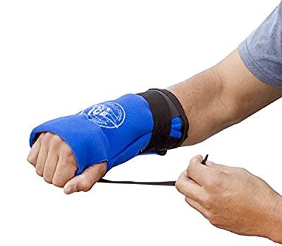 Wrist Cold Therapy Wrap - Reduces Wrist Pain & Swelling. Comfortable to Wear & Fits Like A Glove. Allows Mobility While Icing, Lightweight, and Portable. Can Be Used On Either Hand. PI300 by Pro Ice