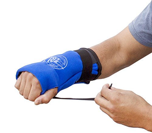 Ice Wrap For Hand & Wrist - Perfect For Tendonitis relief, Swelling, and Hand / Wrist Sprains - Ice Packs Included