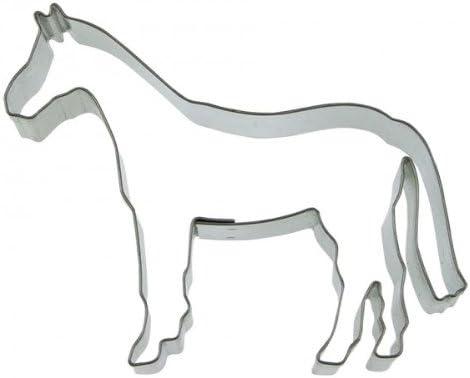 Staedter Caballo Cortador de Galletas, Plata, Acero Inoxidable, Plateado, 10 cm