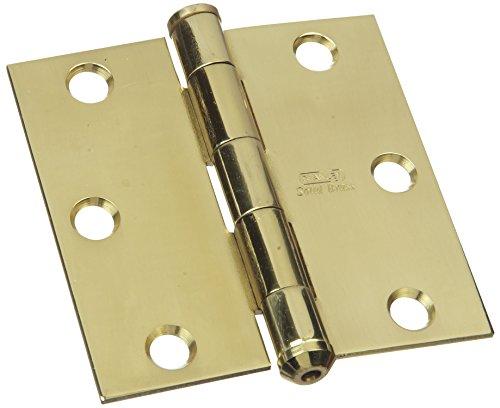 (Stanley National Hardware S800-090 749 Solid Brass Square Corner Residential Hinge in Brass , 3