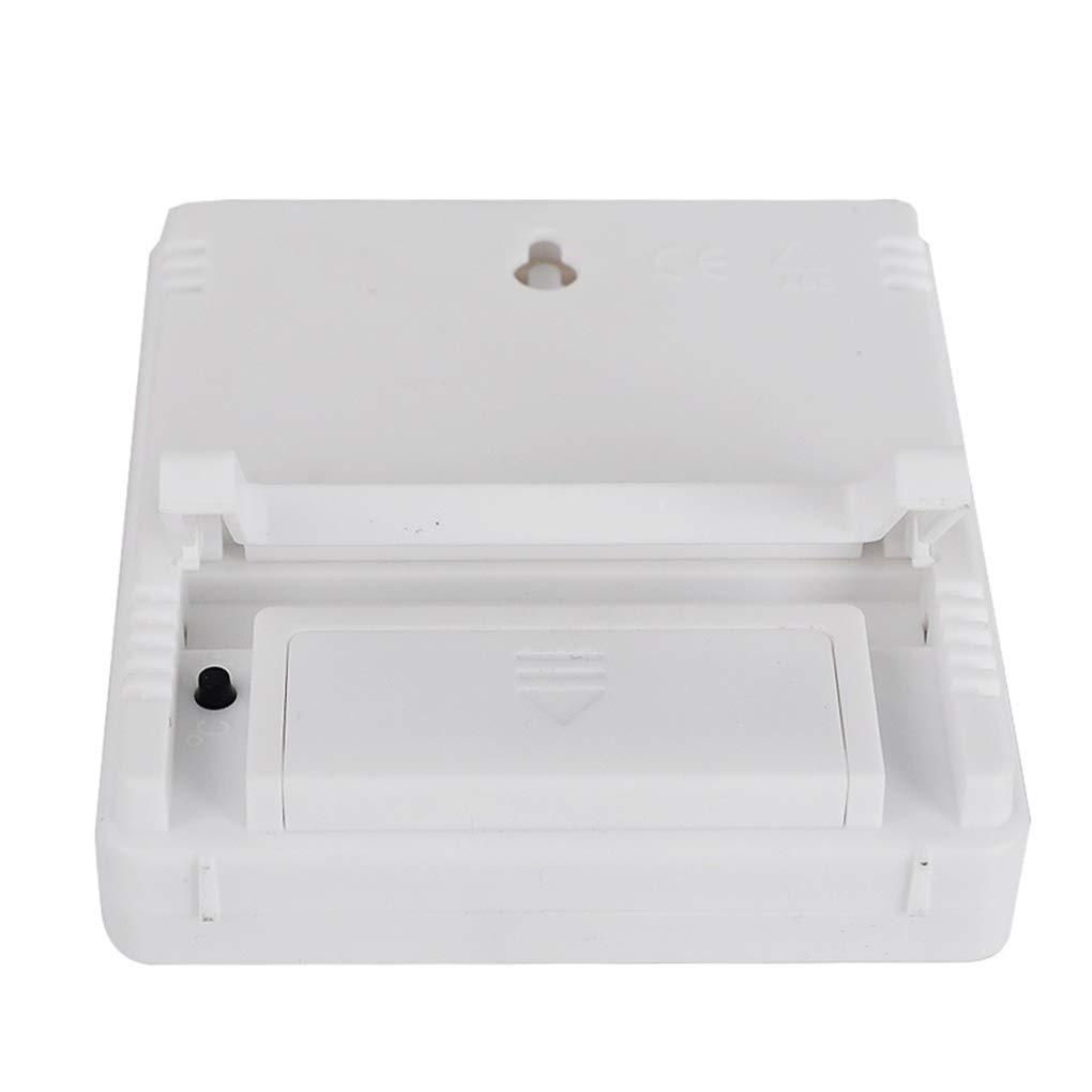 Morelyfish Mini termometro digitale tester di umidit/à di temperatura ambiente LCD coperta sveglia igrometro